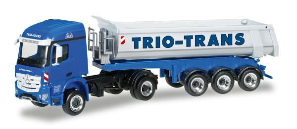 "Herpa 306270 - Mercedes-Benz Arocs Rundmulden-Sattelzug ""Trio-Trans"" - 1:87"