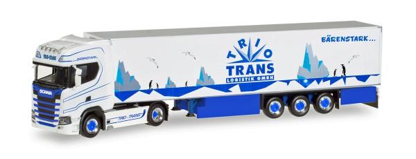 "Herpa 308052 - Scania CS20 HD Kühlkoffer-Sattelzug ""Trio-Trans"" - 1:87"