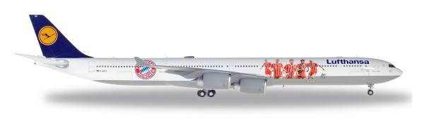 "Herpa Wings 558846 - Lufthansa Airbus A340-600 ""FC Bayern Audi Summer Tour China 2017"" - 1:200"