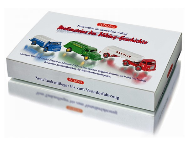 """Wiking 099082 - Set """"Tankwagen im deutschen Alltag"""" - 1:87"""