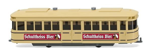 """Wiking 074901 - Straßenbahn-Anhänger """"Schultheiss-Bier"""" - 1:87"""