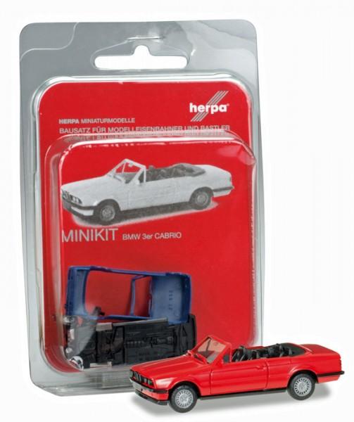 Herpa 012225-005 - Herpa MiniKit: BMW 3er Cabrio, rot - 1:87