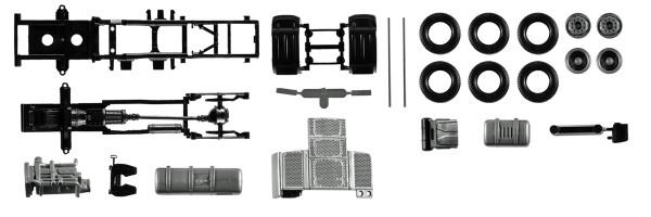 Herpa 084567 - Fahrgestell DAF XF Euro 6 ohne Chassisverkleidung Inhalt: 2 Stück - 1:87