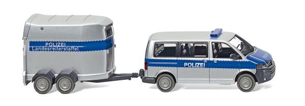Wiking 030807 - Polizei - VW T5 GP Multivan mit Pferdeanhänger - 1:87