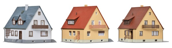 Kibri 38995 - Set Siedlungshäuser inkl. Hausbeleuchtungs- Startset - H0