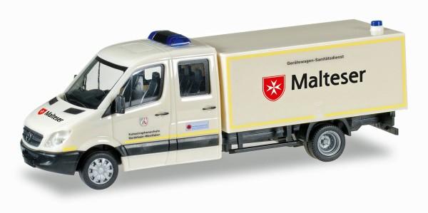 """Herpa 092951 - Mercedes-Benz Sprinter Doppelkabine mit Koffer GW-San """"Malteser Hilfsdienst"""" - 1:87"""