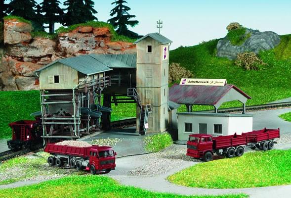 Kibri 36603 (6603) - Schotterwerk Steiner inkl. Fahrzeuge - Z