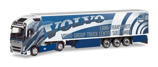 "Herpa 308014 - Volvo FH 16 Gl. XL Kühlkoffer-Sattelzug ""Lang Transporte / Volvo Truck Center Sued Gm"