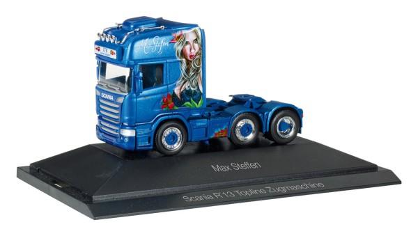 "Herpa 110884 - Scania R TL 6x2 Zugmaschine ""Max Steffen"" (CH) - 1:87"
