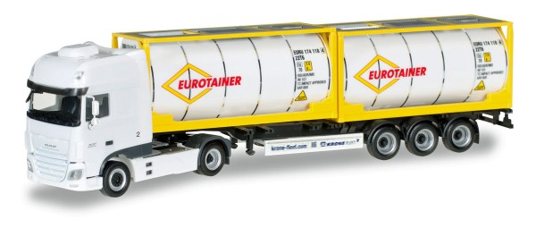 "Herpa 306829 - DAF XF SSC Euro 6 Tankcontainer-Sattelzug ""Eurotaine"" - 1:87"