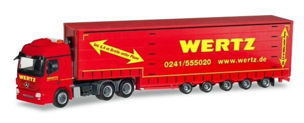 """Herpa 309431 - Mercedes-Benz Actros L 6x4 Meusburger-Sattelzug """"Wertz Aachen"""" - 1:87"""