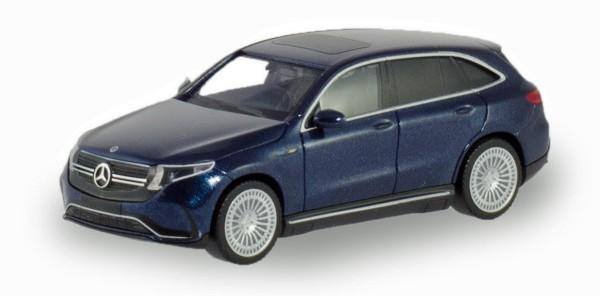 Herpa 430715 - Mercedes-Benz EQC AMG, cavansitblau metallic erstes Elektro-SUV von Mercedes-Benz - 1