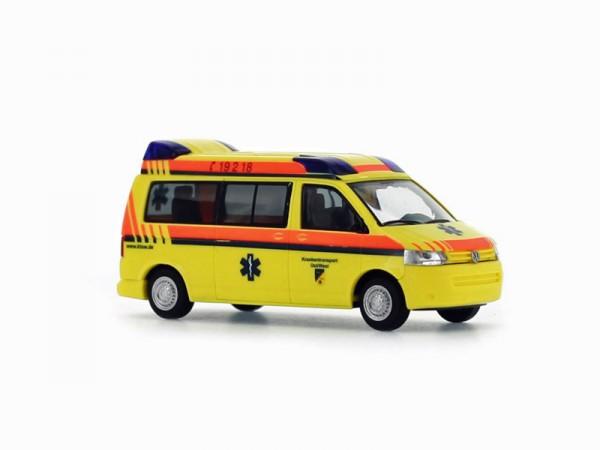 Rietze 52695 - VW T5 GP Hornis M Krankentransport Ost/West - 1:87