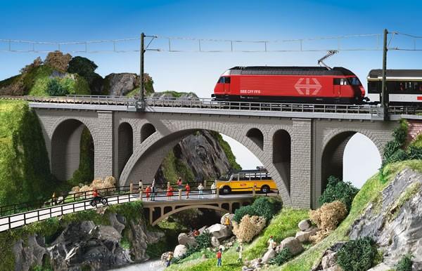 Kibri 39720 (9720) - Hölltobel - Viadukt eingleisig - H0