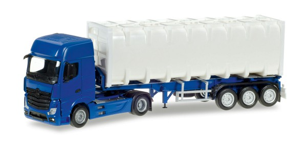 Herpa 013031 - Herpa MiniKit: Mercedes-Benz Actros Giga Bulkcontainer-Sattelzug, unbedruckt - 1:87