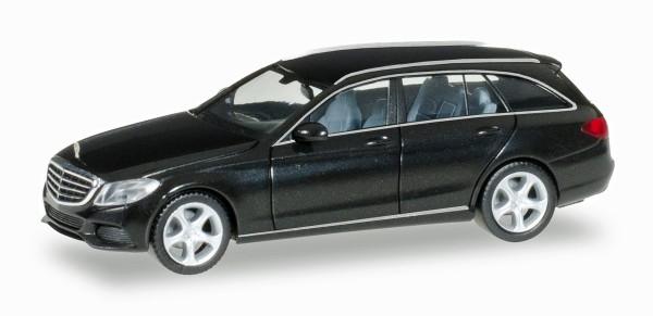 Herpa 038393-003 - Mercedes-Benz C-Klasse T-Modell Elegance, schwarz metallic - 1:87