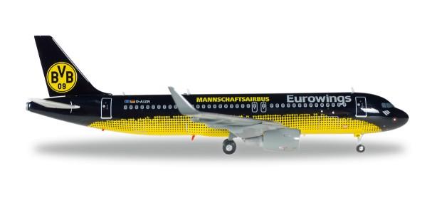 """Herpa Wings 558167 - Eurowings Airbus A320 """"BVB Mannschaftsairbus"""" - 1:200"""