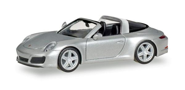 Herpa 038904 - Porsche 911 Targa 4S, rhodiumsilbermetallic - 1:87