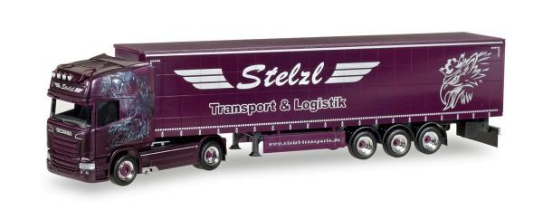 "Herpa 307987 - Scania R TL Gardinenplanen-Sattelzug ""Stelzl"" - 1:87"