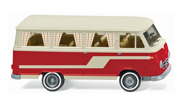 Wiking 027045 - Borgward Campingbus B611 - perlweiß/rot - 1:87