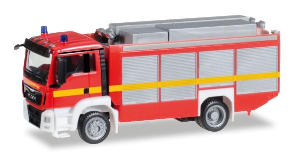 """Herpa 091077-002 - MAN TGS M Euro 6 Rüstwagen RW2, leuchrot """"Feuerwehr"""" - 1:87"""