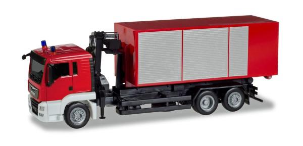 """Herpa 013406 - Herpa MiniKit: MAN TGS L Wechssellader-LKW mit Kran """"Feuerwehr"""" - 1:87"""
