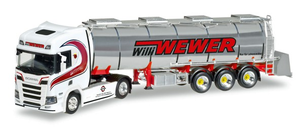 "Herpa 308427 - Scania CR HD Chromtank-Sattelzug ""Willi Wewer"" - 1:87"