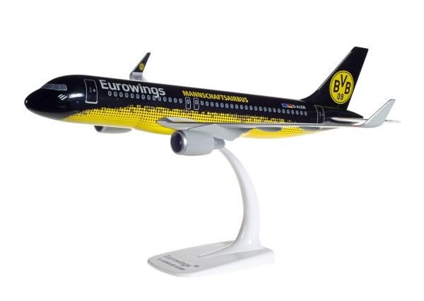 "Herpa Wings 611602 - Eurowings Airbus A320 ""BVB Mannschaftsairbus"" - D-AIZR - 1:100 - Snap-Fit"