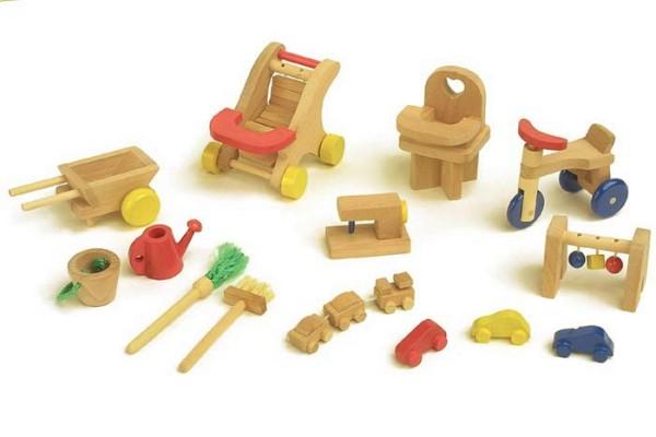 Puppenmöbel Spielplatz aus Holz (7538)