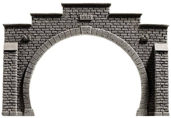 NOCH 58052 - Tunnel-Portal, 2-gleisig, 21 x 14 cm - H0