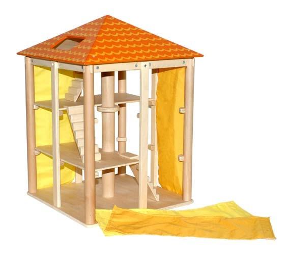 Holz- Puppenhaus Sommerloft