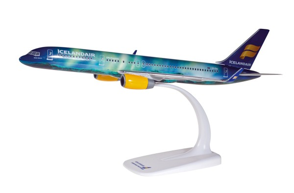 "Herpa Wings 610735 - Icelandair Boeing 757-200 ""Hekla Aurora"" - 1:200 - Snap-Fit"