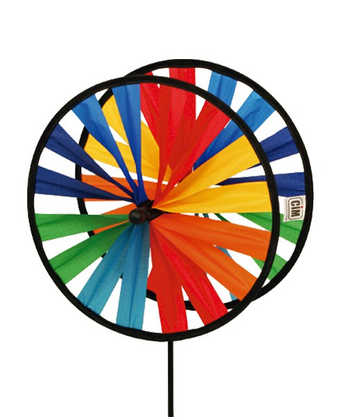 Colours in Motion - Windspiel Windrad Magic Wheel Twin 25 - Ø 25 x 65 cm