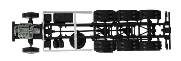 Herpa 084710 - Fahrgestell Scania R 4-achs LKW mit U-Schutz (Inhalt: 2 Stück) - 1:87
