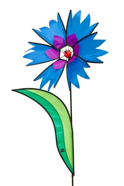 Invento-HQ Windspiel Windrad Corn Flower - Kornblume (45 x 105 cm)