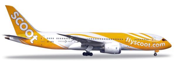 "Herpa Wings 531627 - Scoot Boeing 787-8 Dreamliner - 9V-OFG ""Kama Scootra"" - 1:500"