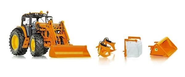 Wiking 077342 - John Deere 7430 mit Frontlader und Frontlader-Werkzeugen - 1:32
