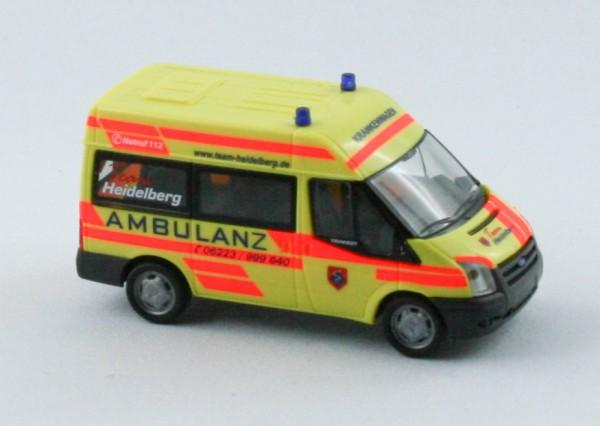 Rietze 52526 - Ford Transit 06 Ambulanz Heidelberg - 1:87