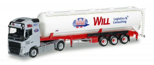 "Herpa 921695 - Volvo FH Gl. Silo-Sattelzug ""Will Logistics & Consulting"" - 1:87"