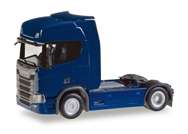 Herpa 307109 - Scania CR 20 HD Zugmaschine, dunkelblau - 1:87