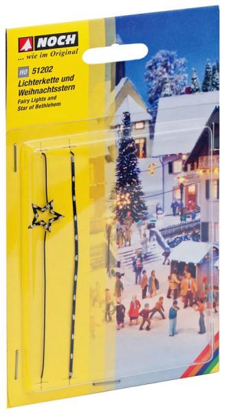 NOCH 51202 - Lichterkette und Weihnachtsstern - H0