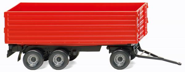 Wiking 038818 - Landwirtschaftlicher Dreiachsanhänger - rot - 1:87