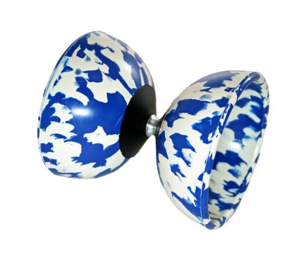 Mr. Babache Diabolo Arlequino Midi - blau / weiß