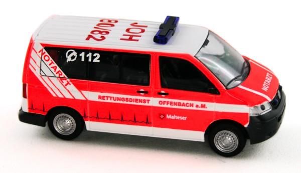 Rietze 51894 - Volkswagen T5 Notarzt Malteser Offenbach - 1:87