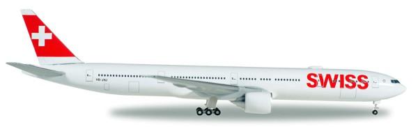 Herpa Wings 529136-002 - Swiss International Air Lines Boeing 777-300ER - HB-JNJ - 1:500