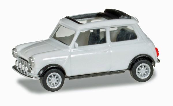 herpa 028592 - Mini Cooper, reinweiß (Mit Rolldach und Zusatzscheinwerfern) - 1:87