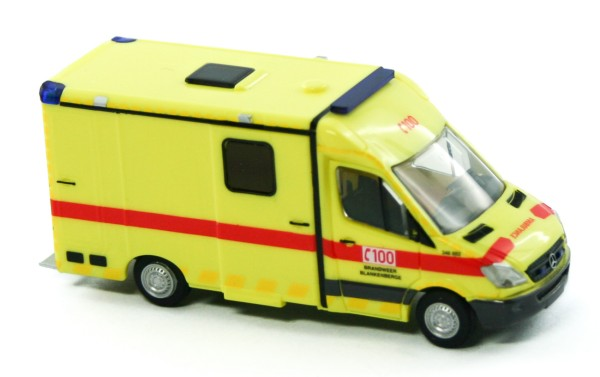Rietze 61783 - System Strobel RTW Brandweer Blankenberge (B) - 1:87