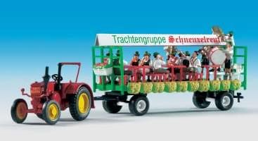Kibri 12226 - LANZ Traktor mit Festwagen - H0