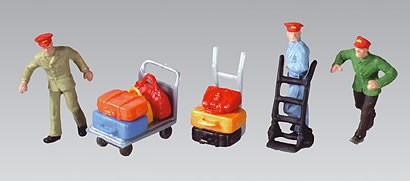 Vollmer 2245 - Gepäckträger, Gepäck und Wagen - H0