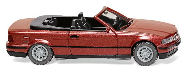 Wiking 019401 - BMW 325i Cabrio - weinrot-metallic - 1:87